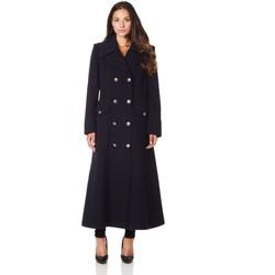 textil Mujer Abrigos De La Creme Cuello  de abrigo de invierno de lana de cachemira militar BEIGE