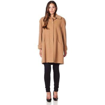 textil Mujer Abrigos De La Creme Abrigo de invierno de cachemir de lana columpio BEIGE