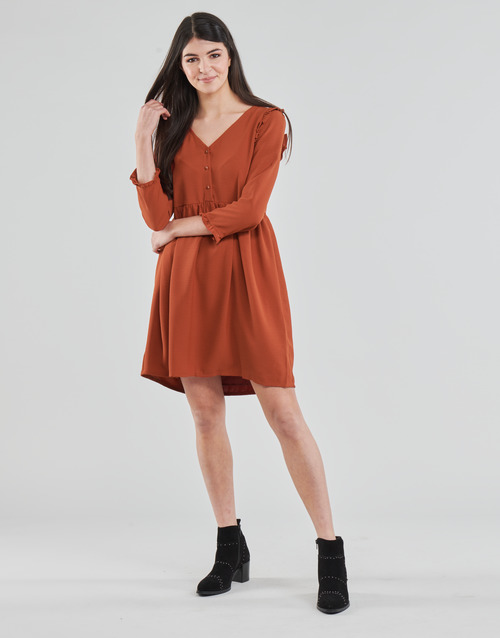 Mujer Cortos London Vestidos Textil Betty Marrón Jabala j4RcLS5A3q