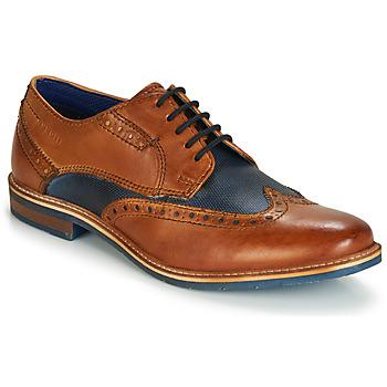 Zapatos Hombre Derbie Bugatti TROISCINQ Cognac / Azul