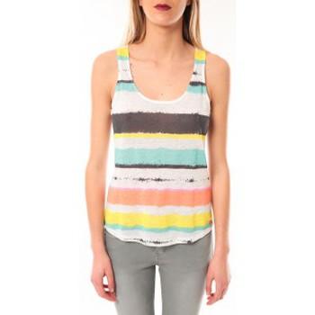 textil Mujer camisetas sin mangas Little Marcel Débardeur Tocada E15FTAN0217 Blanc Blanco