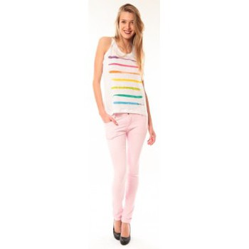 textil Mujer Camisetas sin mangas Little Marcel Débardeur Dacola E15FTAN0118 Blanc Blanco