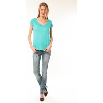 textil Mujer camisetas manga corta Little Marcel T-Shirt Talin E15FTSS0116 Bleu Turquoise Azul
