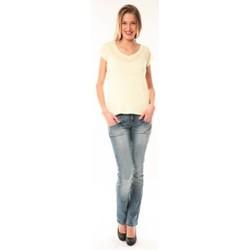 textil Mujer camisetas manga corta Little Marcel T-Shirt Talin E15FTSS0116 Jaune Amarillo