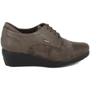 Zapatos Mujer Derbie Plaju PIEL-SERRAJE GRIS GRIS