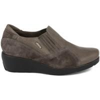 Zapatos Mujer Mocasín Plaju PIEL-SERRAJE GRIS GRIS