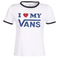 textil Mujer camisetas manga corta Vans VANS LOVE RINGER Blanco