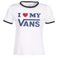 textil Mujer Camisetas manga corta Vans VANS LOVE RINGER Blanco