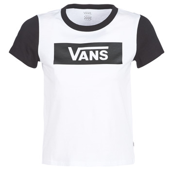 textil Mujer camisetas manga corta Vans V TANGLE RANGE RINGER Blanco