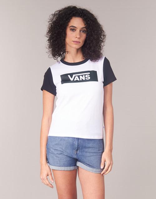 Vans Textil Blanco Camisetas Corta Manga Tangle Mujer Range Ringer V c5Aj4Lq3R