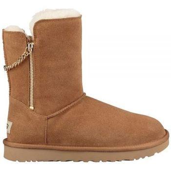 Zapatos Mujer Botas de nieve UGG CLASSIC SHORT SPARKLE ZIP Marrón