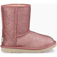 Zapatos Niños Botas de nieve UGG CLASSIC SHORT II GLITTER KIDS Rosa