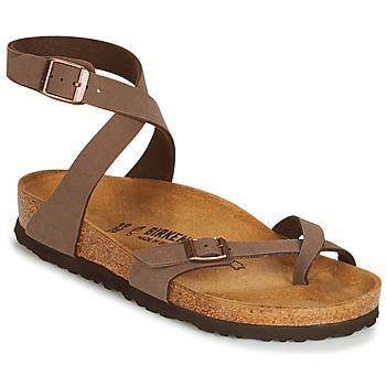 Zapatos Mujer Sandalias Birkenstock YARA Marrón
