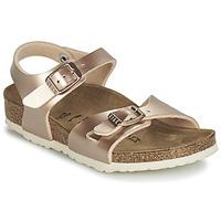 Zapatos Niña Sandalias Birkenstock RIO Gold
