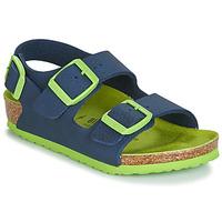 Zapatos Niño Sandalias Birkenstock Milano Azul / Verde