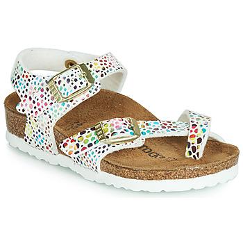 Zapatos Niña Sandalias Birkenstock TAORMINA Blanco