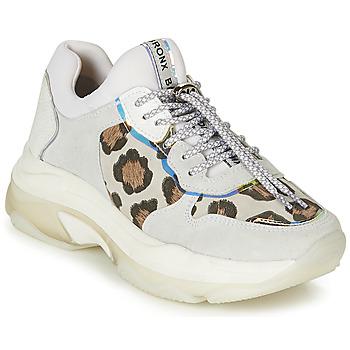 Zapatos Mujer Zapatillas bajas Bronx BAISLEY Blanco / Leopardo