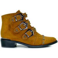 Zapatos Mujer Botines Exé Shoes BOTINES HEBILLAS TAN M17B799-01 Cuero