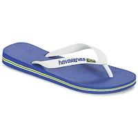 Zapatos Chanclas Havaianas BRASIL LOGO Blanco / Marino