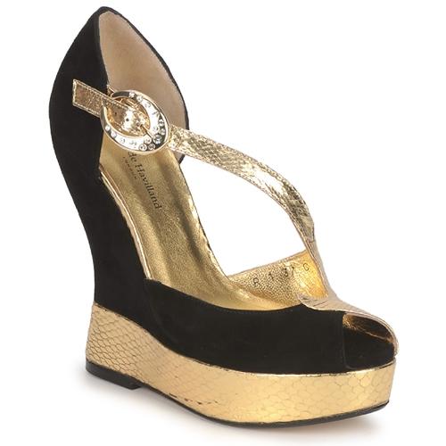 Zapatos Mujer Sandalias Terry de Havilland PENNY Black-gold