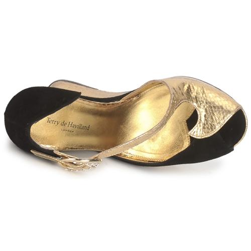 De Sandalias Terry Havilland gold Black CxQBoreEdW