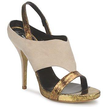 Zapatos Mujer Sandalias Gaspard Yurkievich T4 VAR8 Beige / Dorado