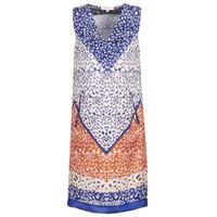 textil Mujer vestidos cortos Derhy FORTERESSE Blanco / Azul / Naranja