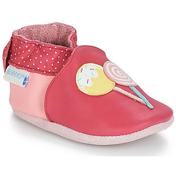 Zapatos Niña Pantuflas para bebé Robeez FUNNY SWEETS Rosa / Blanco