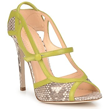 Zapatos Mujer Sandalias Roberto Cavalli RPS678 Serpiente / Verde
