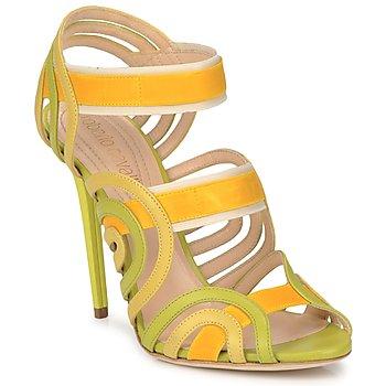 Zapatos Mujer Sandalias Roberto Cavalli RPS691 Verde / Amarillo