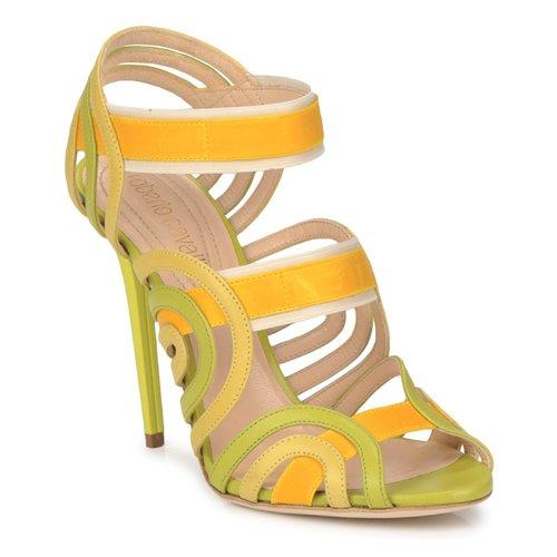 Gran descuento Zapatos especiales Roberto Cavalli RPS691 Verde / Amarillo