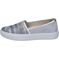 Zapatos Mujer Slip on Janet Sport slip on gris gamuza plata strass BT420 gris