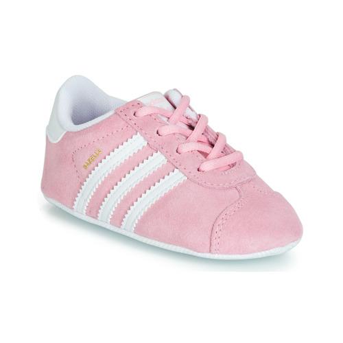 Zapatos Niños Zapatillas bajas adidas Originals GAZELLE CRIB Rosa