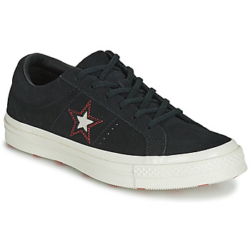 Zapatos Mujer Zapatillas bajas Converse ONE STAR LOVE IN THE DETAILS SUEDE OX Negro