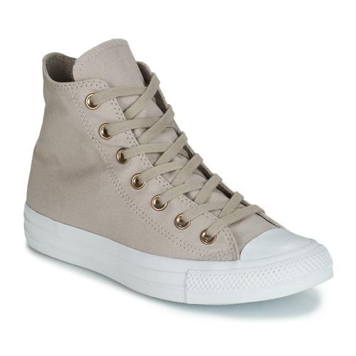 Zapatos Mujer Zapatillas altas Converse CHUCK TAYLOR ALL STAR HEARTS CANVAS HI Gris