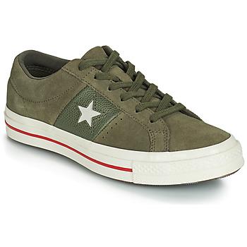 Zapatos Mujer Zapatillas bajas Converse ONE STAR CUIR FASHION BALLER SUEDE OX Kaki