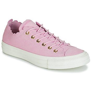 Zapatos Mujer Zapatillas bajas Converse CHUCK TAYLOR ALL STAR FRILLY THRILLS SUEDE OX Rosa