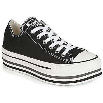 Zapatos Mujer Zapatillas bajas Converse CHUCK TAYLOR ALL STAR PLATFORM EVA LAYER CANVAS OX Negro
