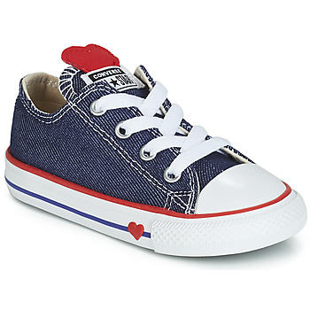 Zapatos Niña Zapatillas bajas Converse CHUCK TAYLOR ALL STAR SUCKER FOR LOVE DENIM OX Azul