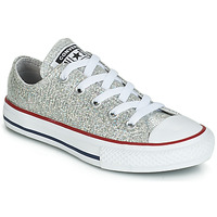 Zapatos Niña Zapatillas bajas Converse CHUCK TAYLOR ALL STAR SPARKLE SYNTHETIC OX Gris