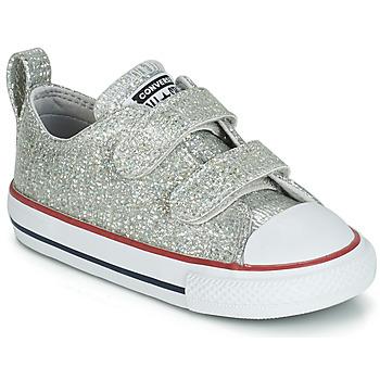 Zapatos Niña Zapatillas bajas Converse CHUCK TAYLOR ALL STAR 2V SPARKLE SYNTHETIC OX Gris