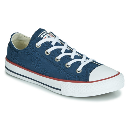 504940ace Zapatos Niña Zapatillas bajas Converse CHUCK TAYLOR ALL STAR BROADERIE  ANGLIAS OX Marino