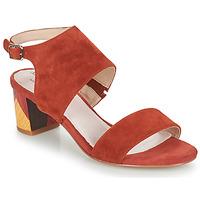 Zapatos Mujer Sandalias Metamorf'Ose EMBARQUA Rojo
