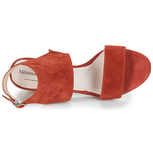 Embarqua Metamorf'ose Mujer Rojo Zapatos Sandalias 0kwOn8PX