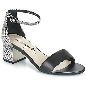 Zapatos Mujer Sandalias Metamorf'Ose EMBRASA Negro