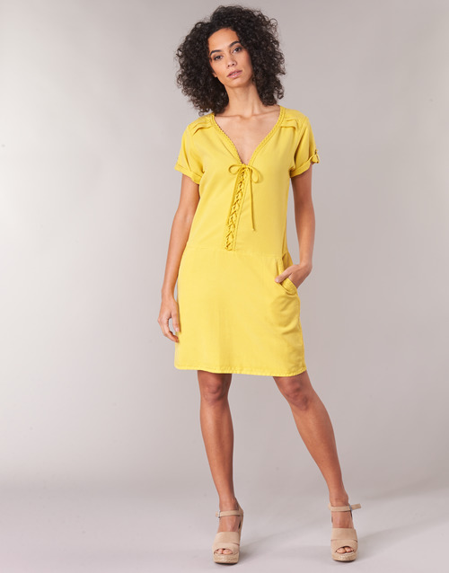 One Amarillo Cortos Patricia Mujer Vestidos Step Textil xBoCrdeW
