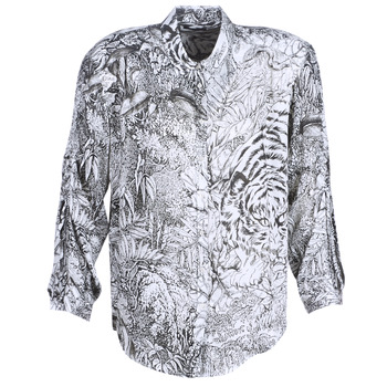 textil Mujer camisas Ikks BN12085-11 Blanco / Negro