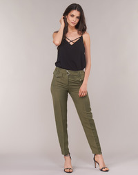 textil Mujer pantalones con 5 bolsillos Ikks BN22125-56 Kaki