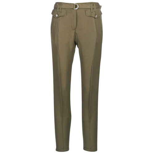 Ikks BN22125-56 Kaki - Envío gratis | ! - textil pantalones con 5 bolsillos Mujer