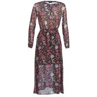 textil Mujer vestidos largos Ikks BN30065-02 Negro / Rojo / Gris